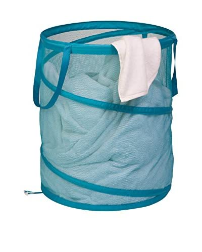 Honey-Can-Do Large Mesh Pop Open Hamper, Ocean Blue