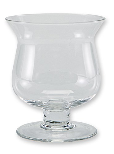 Flower Glass Vase Decorative Centerpiece For Home or Wedding by Royal Imports - Mini Hurricane Shape, 4'' Tall x 3.5'' Opening (Square Glass Small Lamp compare prices)