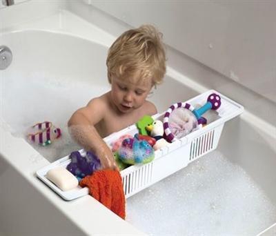 KidCo Bath Toy Organizer Storage Basket, White