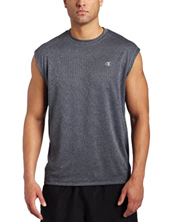 Champion  Men's Double Dry Training Muscle T Shirt,Slate Gray Heather,Medium