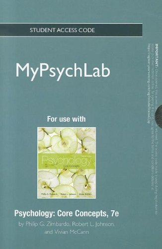 NEW MyPsychLab -- Standalone Access Card -- for Psychology: Core...