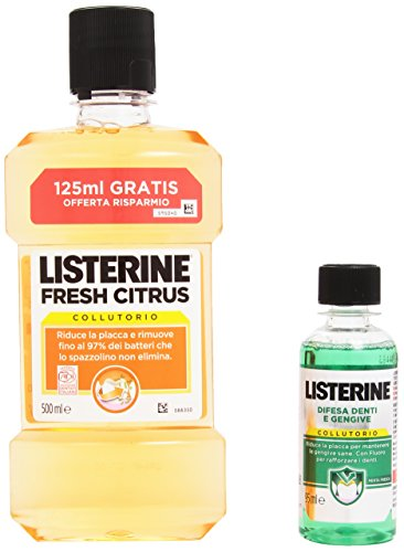 Listerine - Collutorio Fresh Citrus 500 ml + Collutorio Menta Fresca 95 ml