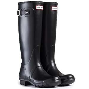 Mens Hunter Wellington Boots Original Tall Rainboots Snow Wellies New - Black - 7