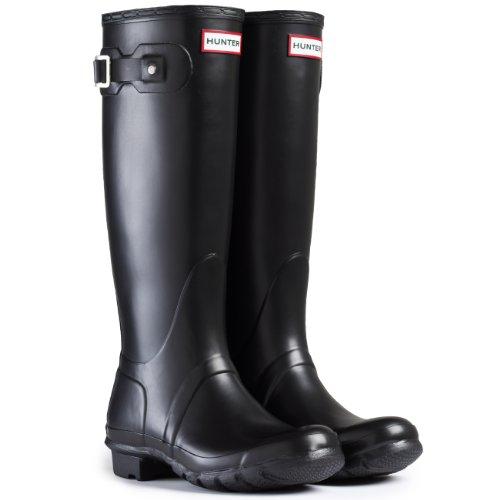 Uomo Hunter Wellington Boots Originale Elevato Neve Stivali Di Gomma - Nero - 43