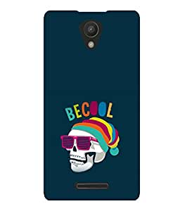 printtech Cool Skull Back Case Cover for Xiaomi Redmi 3S::Xiaomi Redmi 3::Xiaomi Redmi 3 (3rd Gen)