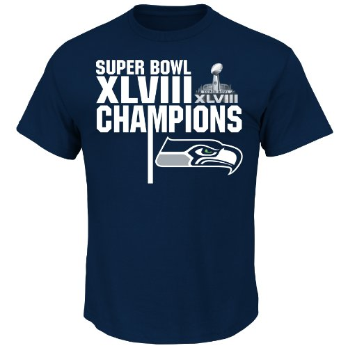 NFL Super Bowl Champion Seattle Seahawks Champion Way Schedule Tee, Small at Amazon.com