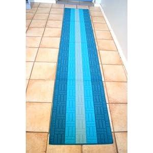 Tapis chemin de couloir 57 x 290 cm bleu turquoise amazon for Couloir turquoise