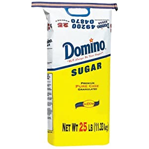 Extra Fine Granulated Domino Sugar 25 lbs