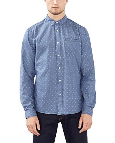 edc by ESPRIT Camisa Hombre Azul