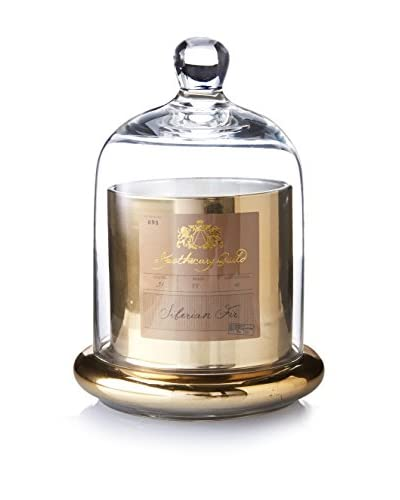 Apothecary Guild 3.1-Oz. Gold Candle Jar with Glass Dome, Siberian Fir