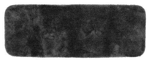 Garland Rug Finest Luxury Ultra Plush Washable Nylon Rug, 22-Inch By 60-Inch, Dark Gray front-1006286
