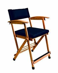 "Amazon.com: Hollywood Chairs by Totally Bamboo 27"" Elm Director Chair, Navy: Kitchen ..."