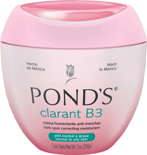 Pond's Ponds Clarant B3 Anti-Dark Moisturizing Cream, For Normal to Oily Skin, 7oz Jars (Pack of 2)