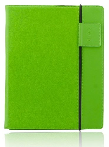 Splash SPL-IPD3-RDRP-GRN Raindrop Leather Case iPad 2 and 3 with stylus (Green)