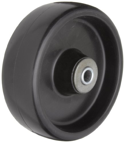 "RWM Casters POR-0620-08 6"" Diameter Tread Polyolefin Wheels with Straight Roller Bearing, 700 lbs Capacity Range"