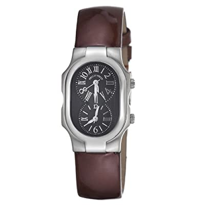 Philip Stein Women's 1-MB-LCH Signature Brown Leather Strap Watch