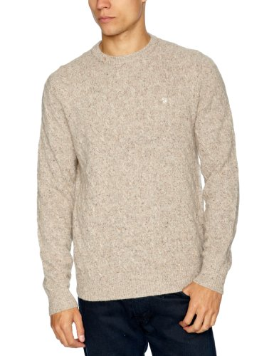 Farah 1920 The Rothman Men's Jumper Oatmeal Large