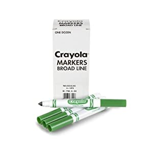 Crayola Original Bulk Markers, Green (4-Pack of 12)