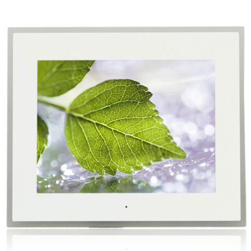 """15""""-Inch High Resolution Wide Screen Multi-Media Digital Photo Frame With Remote Control Adaptor White"""