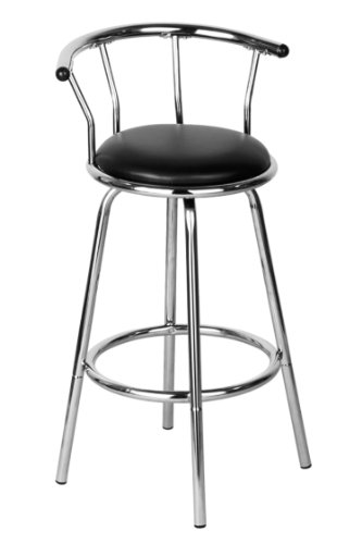 Premier Housewares Bar Stool - 96 x 53 x 45 cm - Black