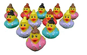 12 Mini Nurse Rubber Ducks Medical Hospital RN Graduation Party Favors