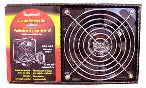 Imperial General Purpose Quiet Circulating Fan for Stove Hot Spots Smoker Circulator Fan (BBQ Pizza Oven Air Blower Motor Pellet Wood Stove Parts) (Imperial Oven Parts compare prices)