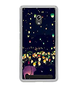 Night Lamps in Sky 2D Hard Polycarbonate Designer Back Case Cover for Asus Zenfone 6 A600CG