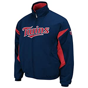 Minnesota Twins Authentic Navy Triple Peak Premier Jacket by Majestic Select Size:... by Majestic