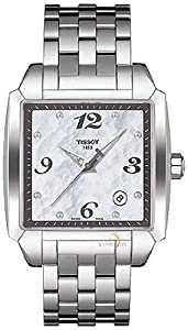 Mens Watch Tissot T0055101111700 Quadrato Stainless Steel Case and Bracelet Quad Mens Watch Tissot