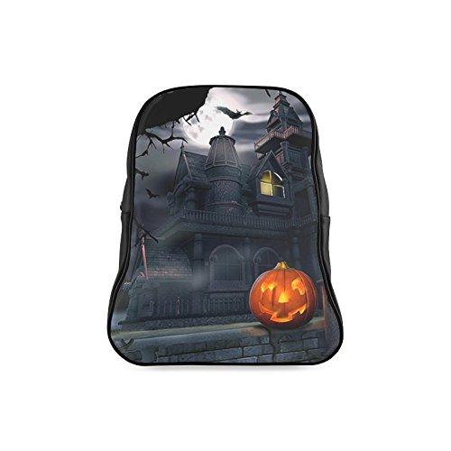 Navarro Classic Halloween October 31 Jack O Lantern Children School High-grade PU Leather Backpack Bag Shoulder