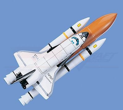 """Space Shuttle With Booster, """"Discovery"""" Aircraft Model Mahogany Display Model / Toy. Scale: 1/146"""