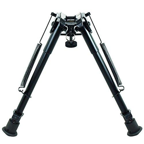 Rifle Bipod 9 Inch To 13 Inch Adjustable Spring Return Sniper Hunting RifleBipod Sling
