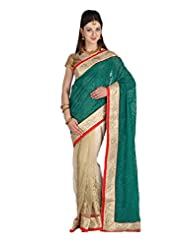 Mina Bazaar Georgette And Net Saree With Blouse Piece