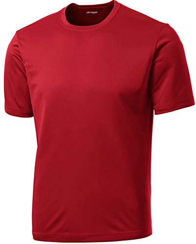 Dri-Equip(tm) Youth Athletic All Sport Training Tee Shirt,XL-True Red