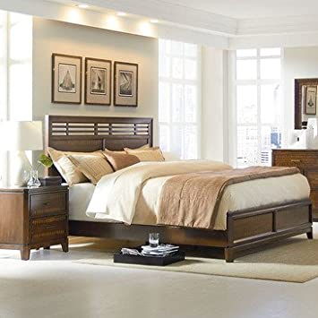 Standard Furniture Avion 2 Piece Platform Bedroom Set in Cherry & Walnut