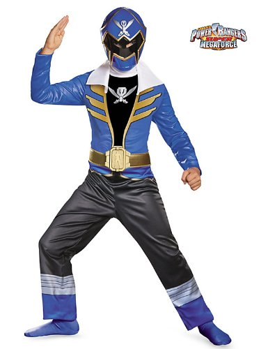 Disguise Saban Super MegaForce Power Rangers Blue Ranger Classic Boys Costume