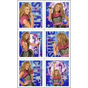 Hannah Montana Rock the Stage Sticker Sheets (4) Party Supplies