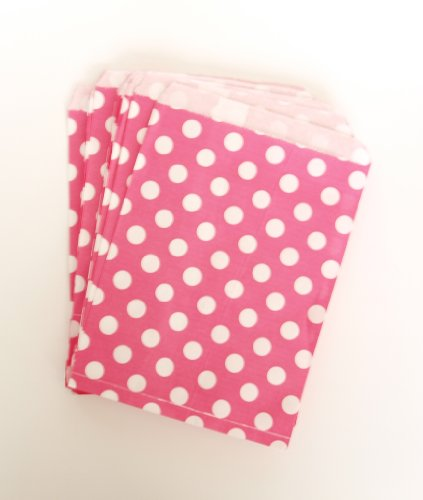 Valentine'S Day Surprise Goodie Bags, Rose Fuchsia Pink Polka Dot (25 Pack) - Elegant Gifts For Friends, Students, Family, Kids & Spouses back-806839