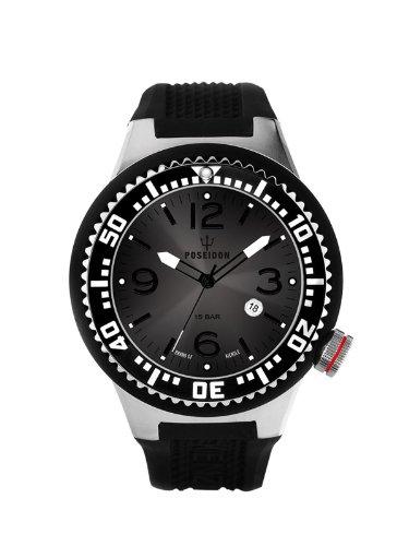 Kienzle Men's Quartz Watch with Black Dial Analogue Display and POSEIDON L Silicone 2093015043-00400 K