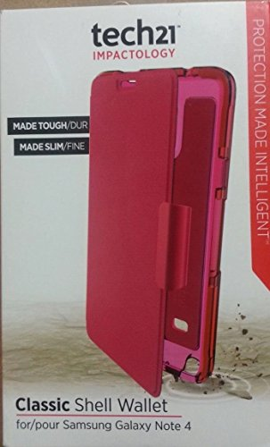Tech21 Classic Shell Wallet Samsung Note 4 Pink