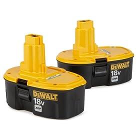 DEWALT DC9096-2 18-Volt XRP 2.4 Amp Hour NiCad Pod Style Battery, 2 Pack