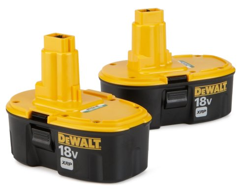 41 RV5E90KL Cheap DEWALT DC9096 2 18 Volt XRP 2.4 Amp Hour NiCad Pod Style Battery, 2 Pack