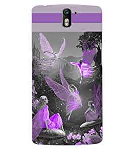 ColourCraft Dancing Angels Design Back Case Cover for OnePlus One