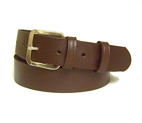 Women's Brown Leather Belt - 30mm Wide - UK Sizes