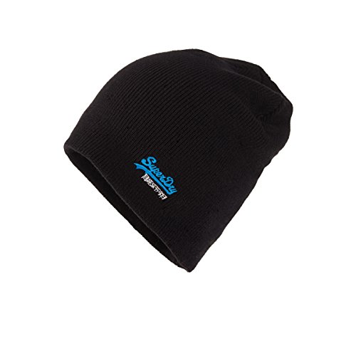 Superdry unisex-adults Basic embroidery-beanie Cappello Black Taglia unica