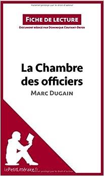 La chambre des officiers de marc dugain fiche - La chambre des officiers livre ...