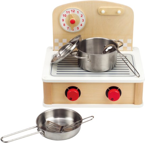Hape - Tabletop Cook and Grill Wooden Play Kitchen Set (Wooden Stoves compare prices)