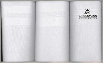Taschentücher LINDENMANN für Herren, 100 % Baumwolle, 3-er Packung, hochwertige Verarbeitung, 50013