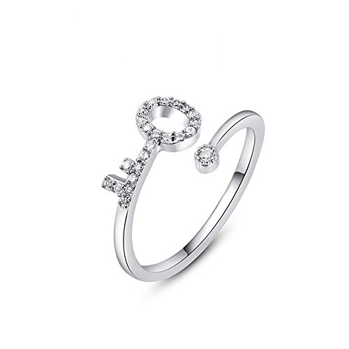 Winter.Z Womens Jewelry Popular Explosion Models Platinum Key Adjustable Opening Ring Wedding (Tiffany Key Ring compare prices)
