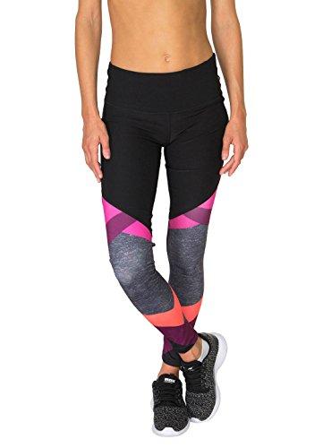 RBX Active Women's Colorblock Printed Legging Warm Combo XL